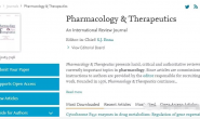 SCI期刊简介——Pharmacology & Therapeutics